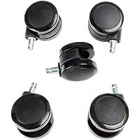 New Soft Caster Wheel for Herman Miller Aeron Embody Mirra Sayl Chiar, Hardwood Floors 5Pcs