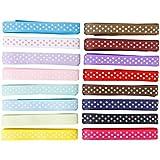 """Femitu Polka Dot Grosgrain Ribbon-16 Colors of 3/8"""""""