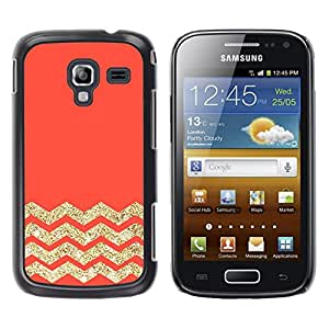 For Samsung Galaxy Ace 2 I8160 / Ace2 II XS7560M Case , Peach Pink Orange Gold Glitter - Diseño Patrón Teléfono Caso Cubierta Case Bumper Duro Protección Case Cover Funda