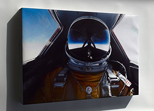 Canvas 24x36; Pilot In Cockpit Of The Sr-71 Blackbird