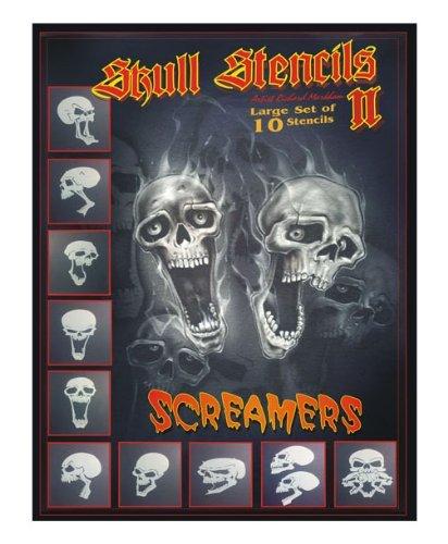 **NEW** Screamer Skull Stencils Full Set