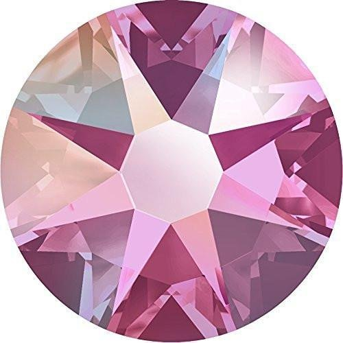 - 2000, 2058 & 2088 Swarovski Flatback Crystals Non Hotfix Rose AB | SS9 (2.6mm) - Pack of 100 | Small & Wholesale Packs