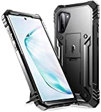 Galaxy Note 10 Rugged Case with Kickstand, Poetic Heavy Duty Military Grade Full Body Cover, Without Built-in-Screen Protector, Revolution Series, for Samsung Galaxy Note 10 (2019), Black
