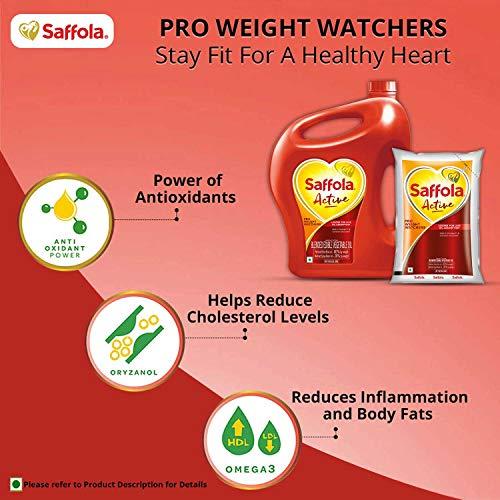 Saffola Active, Pro Weight Watchers Edible Oil, Jar, 5 L 4