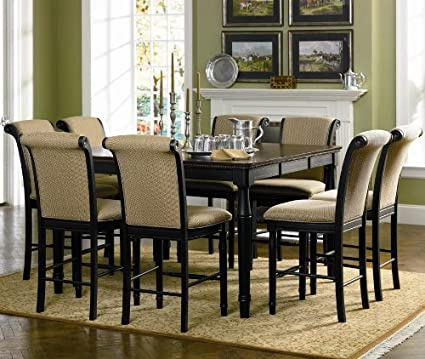 Cabrillo Counter Height Dining Set In Black Finish By Coaster