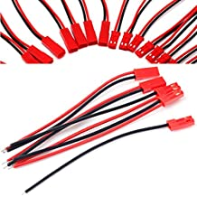 New 5 Pairs 2-Pin JST Plug Connector Cable Wire Male + Female 110mm