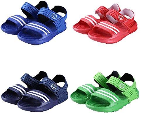 etrack-online Kids Niños Playa zapatos de verano Casual sandalias antideslizante azul azul claro Talla:Toddler 10:Insole Length:17cm hot pink