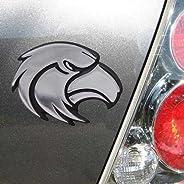 NCAA Southern Miss Golden Eagles Silver Team Logo Chrome Auto Emblem