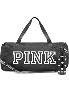 0250b2d129 Victoria  s Secret Black duffle bag PINK friday duffel bag with plastic  water bottle