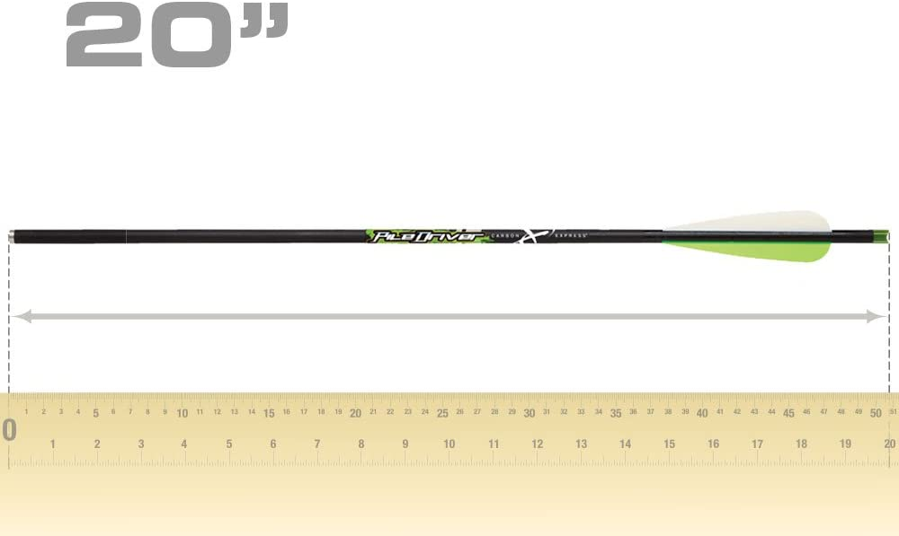 "Carbon Express Piledriver Carbon Crossbow Bolt 4/"" Vanes Black Pack of 6"