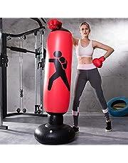 LONEEDY Nadmuchiwany worek bokserski, ciężka torba treningowa, dla dorosłych, nastolatków, fitness, sport, redukcja stresu (czerwony)