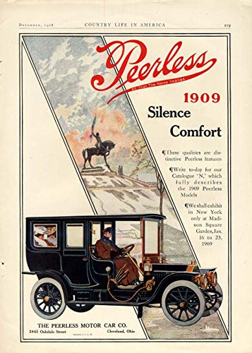 (Silence - Comfort - The Peerless Limousine ad 1909 CL)