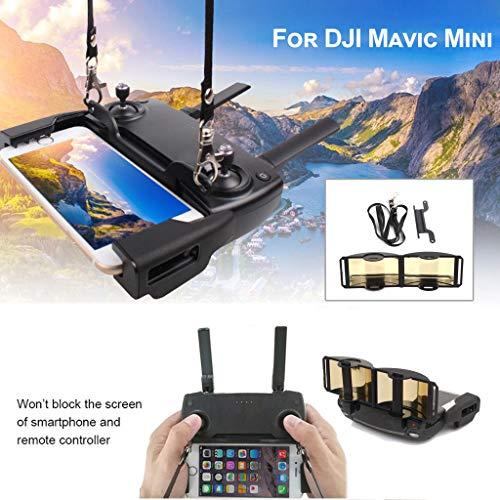 Remote Control Mobile Phone Bracket with Neck Sling Strap+ Extender A-mplifier Antenna Range Exte Booster for DJI Mavic Mini/Mavic Pro/Mavic Air/Spark Drone (As Shown)