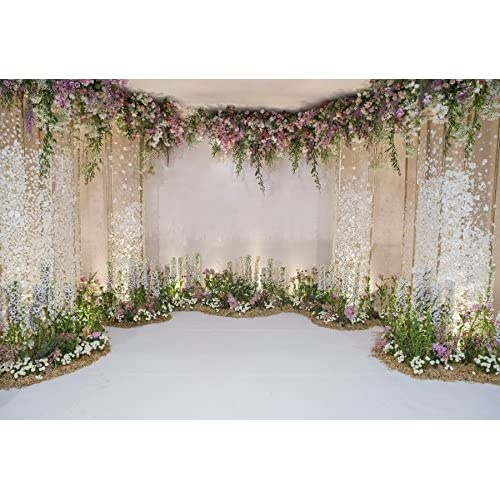 Outlet laeacco wedding backdrops 10x65ft flower and wedding outlet laeacco wedding backdrops 10x65ft flower and wedding decoration photography background fresh flowers spring junglespirit Images