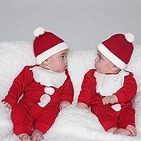 46ce4cbb85 Natale Bambino Abbigliamento Vestiti Natale Neonato Vestiti Bambino Maschio  Inverno Natale Neonato Ragazzi Ragazza Bambino Birichino Tuta Pausa  Cappello ...