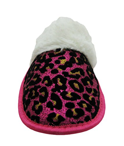Pictures of Sparkling Animal Printed House Slippers w/Fluffy 3
