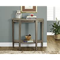 Dark Taupe Reclaimed-Look 36'L Console Accent Table