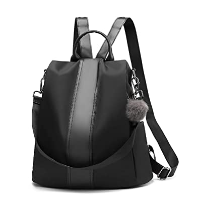 61a75760d1e Women Backpack Purse Anti-Theft Rucksack Waterproof Nylon Lightweight  School Shoulder Bag Ladies Fashion Backpacks
