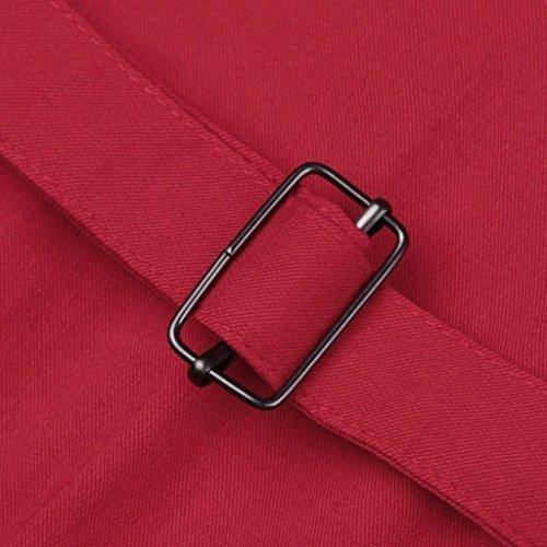 Tasche In Moda Alta Vita Metallo Libero Elastica Pantaloni Tempo Slim Monocromo Style Primaverile Pants Accogliente Donna Fit Fibbia Eleganti Lunga Harem Rot Festa Autunno Con 8ngI6