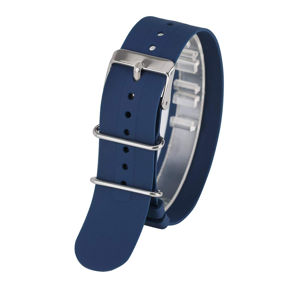 Amazon.com: Blue 18mm/20mm/22mm Watch Band, Silicone Rubber Replacement Watch Strap, for Relojes Watch Replacement Wrist Bracelet: Watches