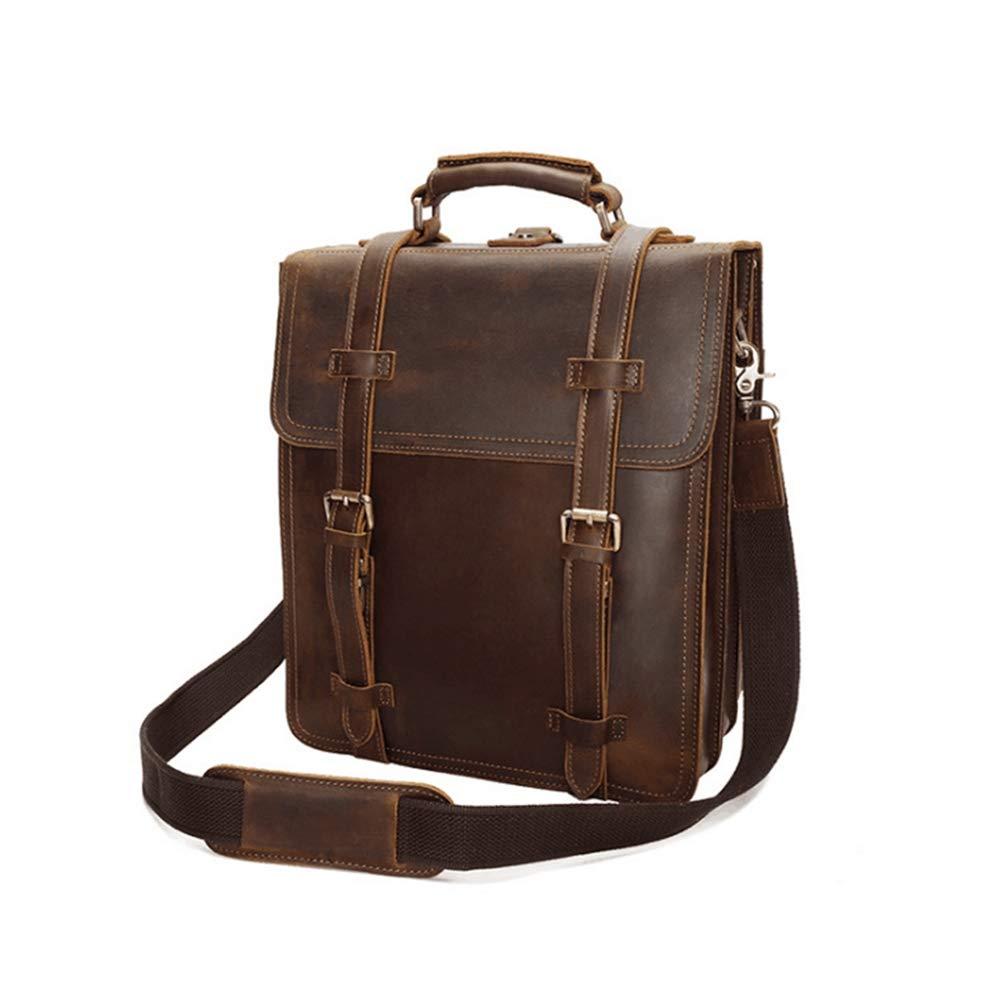 CeSuoLiBengDi 本革レザーバックパックビジネス旅行デイパックスクールバッグナップザックブックバッグ男性用 (Color : ブラウン)  ブラウン B07GX9Z95R