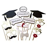 Tinksky Graduation Party Phtoto Booth Props 2017 Graduation Party Decorations Attached to the Stick, pack of 17