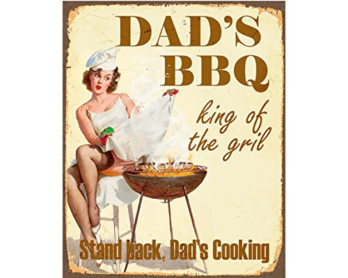 Stylish Vintage Dad's BBQ king of the grill PIn Up Girl Sexy BBq