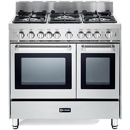 "VERONA VEFSGG365NDSS 36"" Pro-Style Gas Range with 5 Seale..."