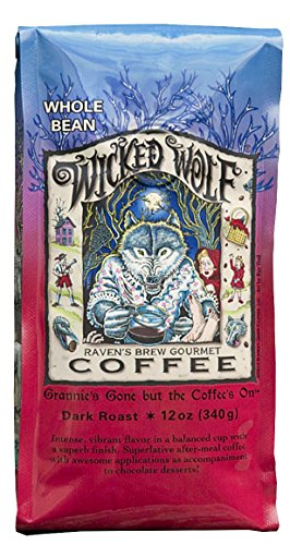 Raven's Brew Coffee Wicked Wolf Blend Whole Bean Coffee, 12 oz