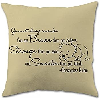 Amazon Com Decorative Pillow Case Winnie The Pooh Quote