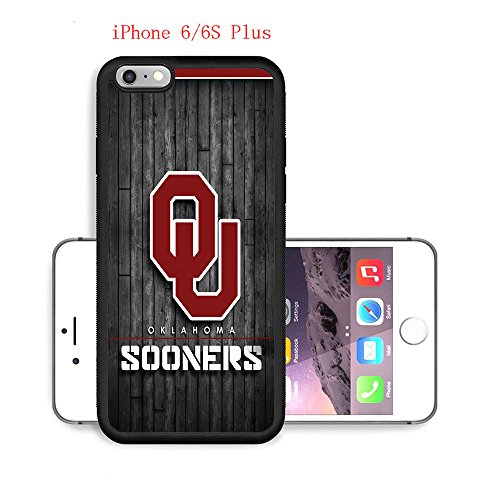 iPhone 6 Plus 6S Plus Case,Ou Oklahoma Sooners 28 Drop Protection Never Fade Anti Slip Scratchproof Soft Rubber TPU Black Case 5.5 inch