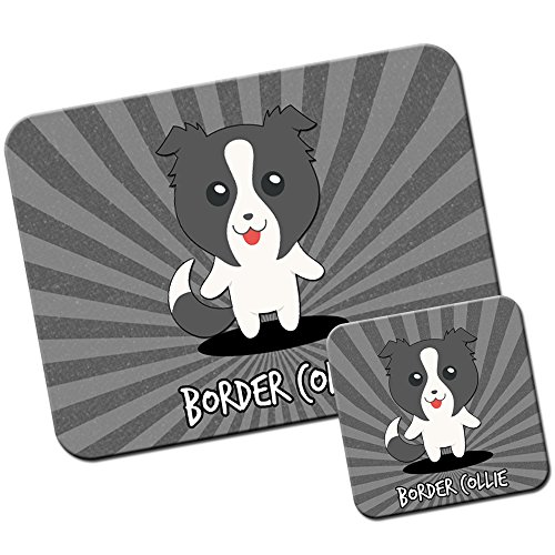 Extra Thick Rubber Mouse Pad / Mat - 9.6 x 7.5 x 0.2 inches - Border Collie, Scottish Sheep Dog