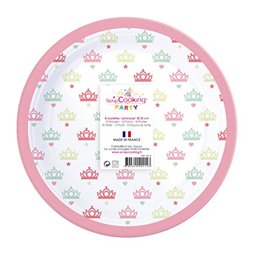 ScrapCooking 0214 Party Paper Plate (81 Pack), Multicolor