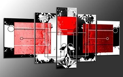 Impresión sobre lienzo{5} XXL más piezas abstracto Art-Nr, M51555 ...