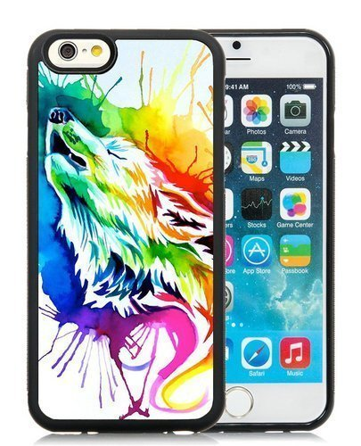 Price comparison product image swa With Rainbow Wolf iPhone 6 Plus Samsung Galaxy Case iPhone 6 / 6S TPU Case iPhone 5 PC 4 / 4S Case