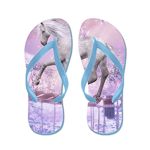 CafePress 460_Ipad_Case - Flip Flops, Funny Thong Sandals, Beach Sandals Caribbean Blue