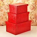 GFYWZ PU leather Square Multi Purpose Storage Box Toy Wardrobe Finishing box , 7