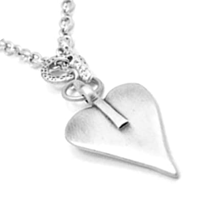 Danon jewellery beautiful chain necklace in silver with large danon jewellery beautiful chain necklace in silver with large signature heart pendant mozeypictures Choice Image