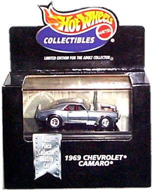 Hot Wheels Collectibles - Limited Edition Cool Collectibles - 1969 Chevrolet Camaro (SS) - Chrome Body Color - Mounted in Collector's Display ()