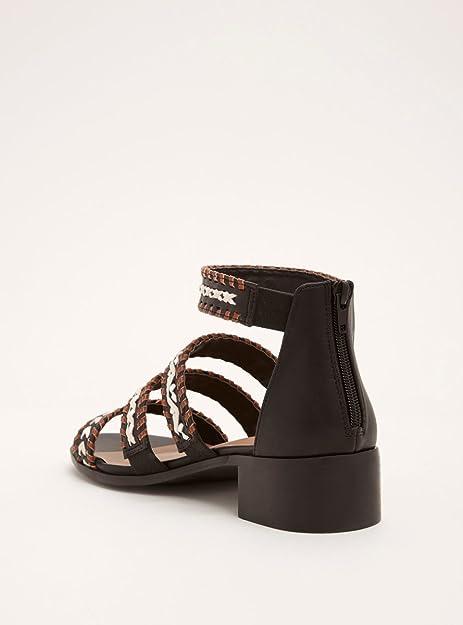 43481b9759c Torrid Braided Multi Strap Block Heels (Wide Width): Amazon.ca ...