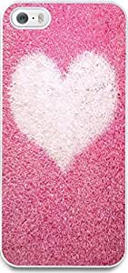 iPhone 5S Case Snap on iPhone 5S Back Cover Skin Slim Fit Protective Pink heart-shaped