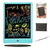 Drawing Tablet 10 Inches LCD Writing Tablet Colorful Screen, Doodle Board Electronic Doodle Pads Writing Board for Kids and Adults(Blue)