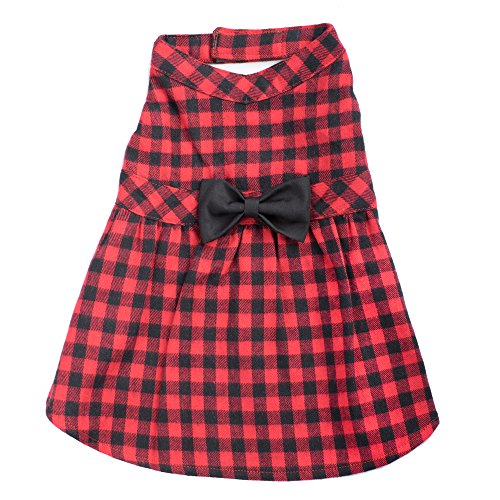 Buffalo Plaid Dress, Red/Black, M