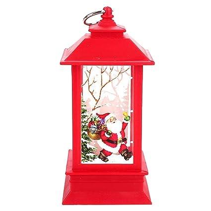 BESTOYARD Lámpara Colgante navideña Linterna con Velas LED ...