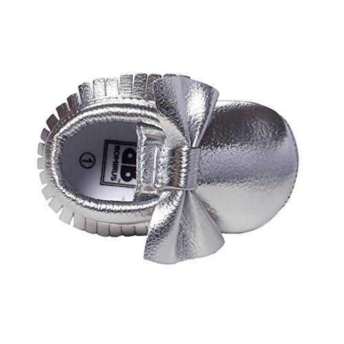 newborn silver dress shoes - 8