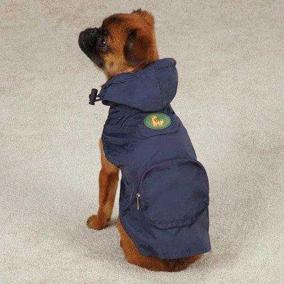 Dino Dog Stowaway Dog Jacket Color: Orange, Size: Small / Medium (14'' H x 10.5'' W x 0.25'' D)