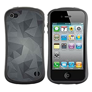 Suave TPU GEL Carcasa Funda Silicona Blando Estuche Caso de protección (para) Apple Iphone 4 / 4S / CECELL Phone case / / Pattern Grey Gray Android /