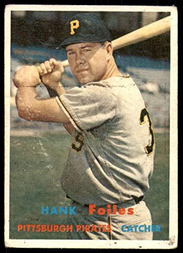 (1957 Topps #104 Hank Foiles G-VG Pirates)