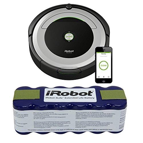 iRobot Roomba 690 Wi-Fi Robotic Vacuum w/ iRobot XLife Extended Life Battery