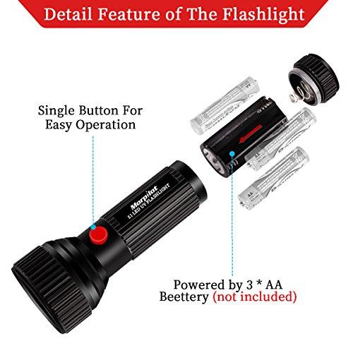 UV Flashlight, 51 LED Black Light Pet Urine Stain Detector 395nm Ultraviolet Blacklight for Detect Bed Bug Dog Urine Stain Scorpion